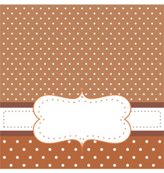 Brown card or invitation vector image