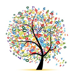Digital tree for your design vector image