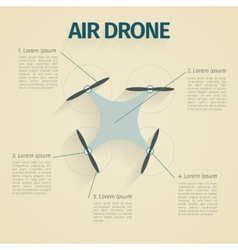 Flat of infographic with quadrocopter vector image vector image