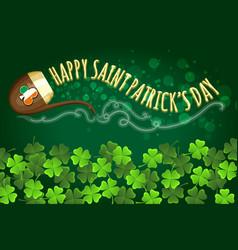 irish holiday saint patricks day banner vector image vector image