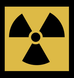 radiation icon radiation symbol vector image vector image