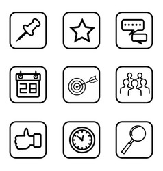 service icons on white background vector image vector image