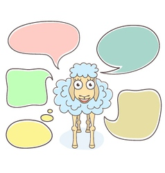 Sheep with Speech Bubbles vector image vector image
