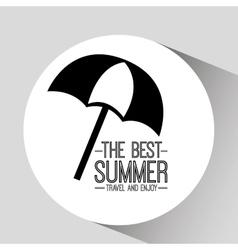 umbrella card best summer travel and enjoy vector image