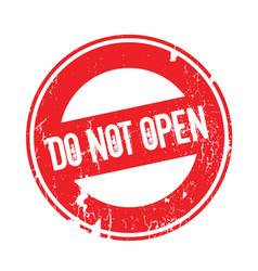 Do not open rubber stamp vector