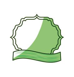 frame emblem with ribbon vector image vector image