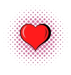 Heart icon comics style vector image