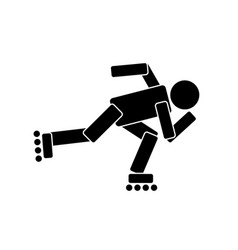roller skating sport vector image vector image