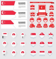 SET singapore vector image
