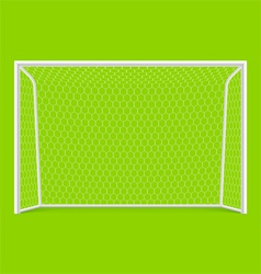 Soccer goal front view vector image vector image