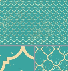 Vintage Aqua Worn Seamless Pattern Background vector image vector image