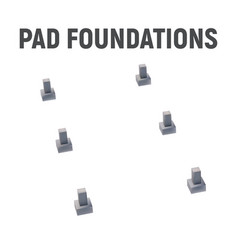 3d image pad foundation vector