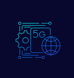 5g network icon linear vector