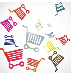 Abstract background trolley vector