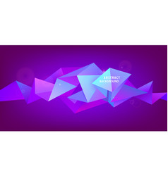abstract geometric 3d facet shape vector image