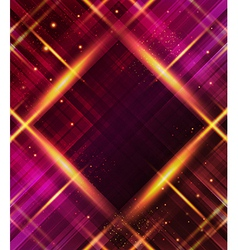 Abstract plaid background with light effects vector image