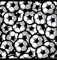background with soccer balls seamless vector image
