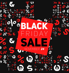 badge with black friday sale vector image