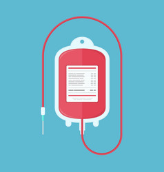 Blood donation bag vector