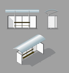 Bus stop empty design template for branding vector