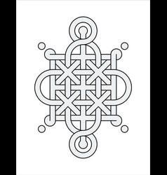 celtic knot - single chain - ring top loop sides vector image