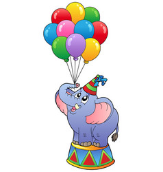 Circus elephant with balloons 1 vector