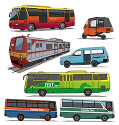 City transportation vector