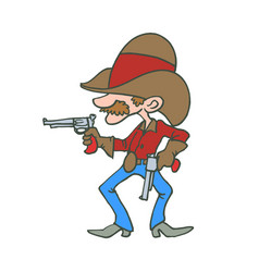cowboy american cartoon character vector image