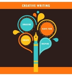 Creative Writing Infographics Template vector image vector image