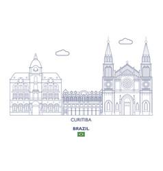 curitiba city skyline vector image