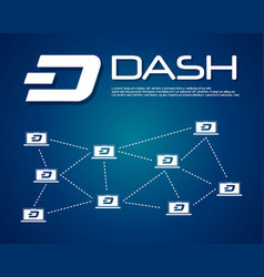 Dash blockchain background collection design vector