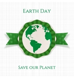 Earth day realistic circle holiday banner template vector
