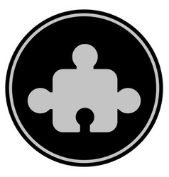 Element black coin vector