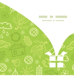 environmental Christmas gift box silhouette vector image
