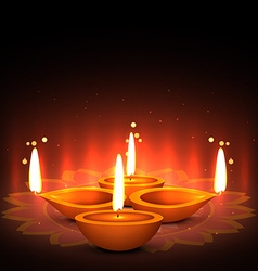 festical of light diwali greeting vector image
