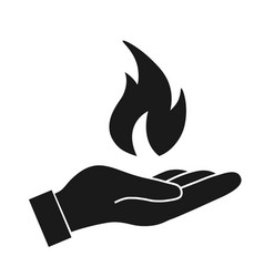 fire flame in hand vector image