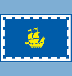 flag quebec province canada vector image