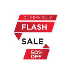 flash sale banner vector image