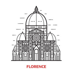 Florence landmark vector