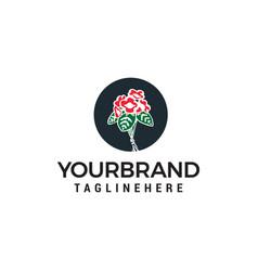 flower rose logo design concept template vector image