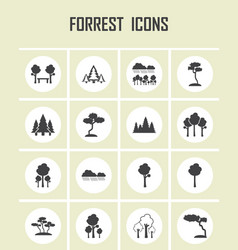 forest icons vector image