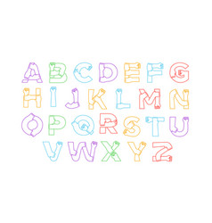 full alphabet set diverse people hand arm isolated vector image