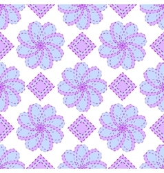 Geometric blue floral pattern vector
