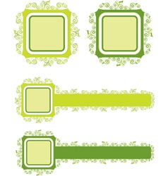 green floral background 1 vector image