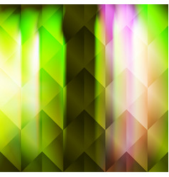 green polygonal hexagonal elements vector image