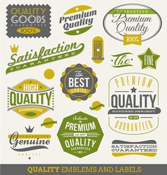 Guaranteed and quality - emblems and labels vector