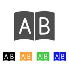 handbook flat icon vector image