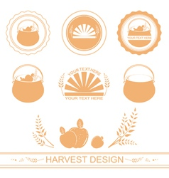 harvest designs vector image