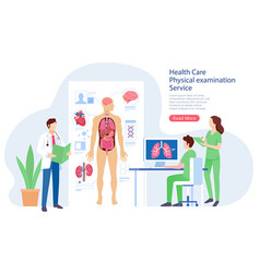 health care physical system examination service vector image