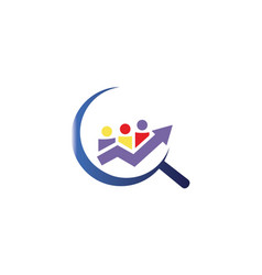 Hire team and company logo and icon vector